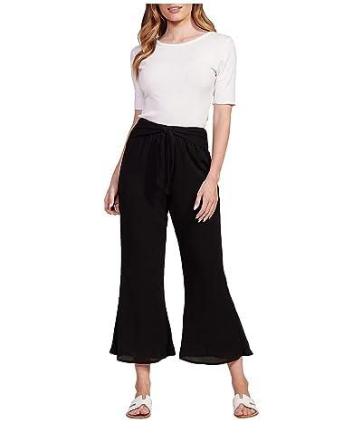Jack by BB Dakota Crinkle Rayon Flare Pants w/ Tie (Black) Women