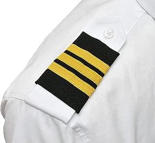 3 Bar Airline Pilot Epaulets First Officer F/O Shoulder Boards Rank Uniform