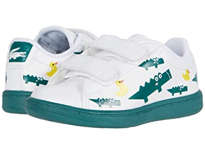 Lacoste Kids Carnaby Evo 120 3 SUI (Toddler/Little Kid) (White/Green) Kid