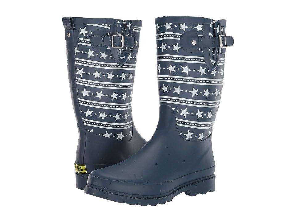 Western Chief Stars and Stripes Rain Boot (Navy) Women