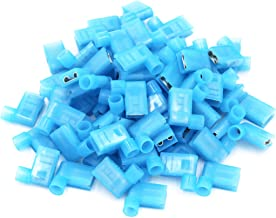 100pcs 90 Degree Nylon Insulated Female Push On Wire Terminal Connector 16-14 AWG