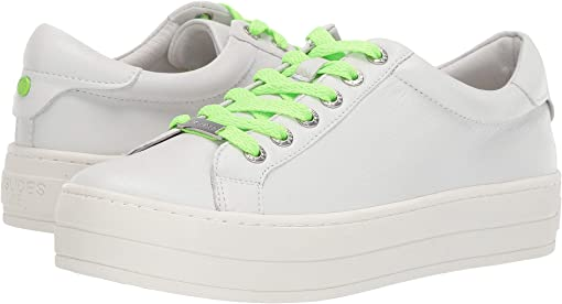 White Leather/Green Lace