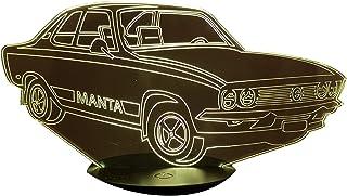 OPEL MANTA A, Lampada illusione 3D con LED - 7 colori.