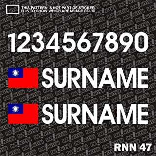 Infinity-270 Taiwan Surname Flag Driver Race Number car Window Sticker Decal Drift Rally Racing Drag JDM Euro Lancer usdm Fast Furious cabriolet Civic Bimmer