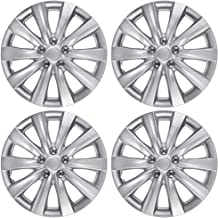 BDK KT-1038-16_amking1 Silver Hubcaps Wheel Covers for Toyota Corolla 2011-2013 (16 inch) – Four (4) Pieces Corrosion-Free & Sturdy – Full Heat & Impact Resistant Grade – Replacement, 4 Pack
