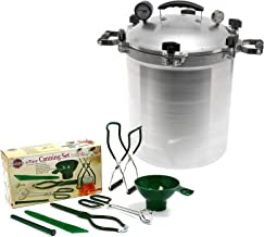 All American 30 QT Pressure Cooker Bundle with 2 Racks and Norpro Canning Essentials 6 Piece Box Set