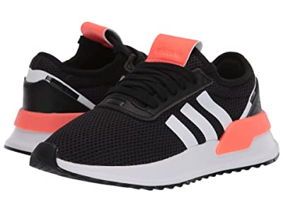 adidas Originals Kids U_Path X (Big Kid) (Black/White/Signal Coral) Kids Shoes