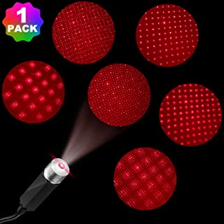 USB Night Light Projector, Auto Roof Adjustable USB Night Lamp, Portable Atmosphere Decorations Star Lights for Car, Bedroom, Party, Walls, Ceiling (1 Pack)