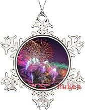 Awesome Fireworks Metal Snowflake Christmas Ornaments for Tree The Home Bedroom Decor for Kids Xmas Keepsake