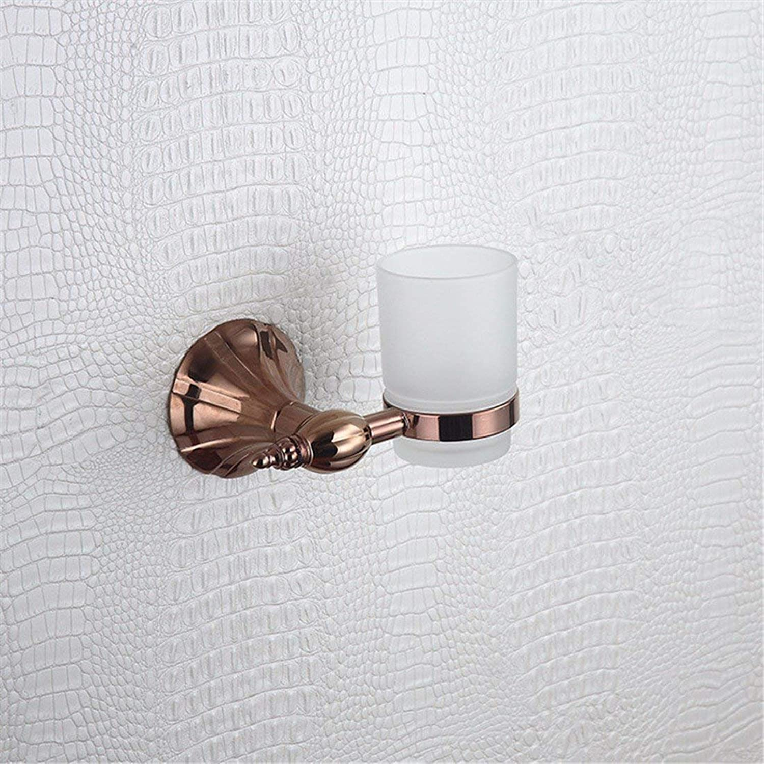 Accessories of European-Style Bathroom of Pink gold of Christmas Full Copper Base of The Petal, Dry-Towels, Single and Double Pole, Simple and Double Door Toothbrush,Single Cup