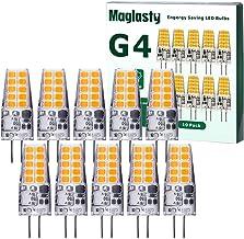 10 stuks LED-lamp G4 3 W, komt overeen met 30 W halogeenlamp, AC/DC 12 V mini-LED-lamp G4 300 lm, warm wit 3000 K, niet di...