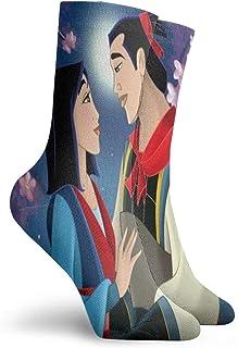 Lsjuee Mulan Socks Moisture Wicking Traspirante Outdoor Casual Cuscino Crew Sock Soft Comfort Calzini spessi caldi Calzini...