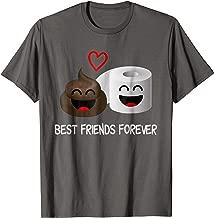 Poop Emoji and Toilet Paper T-Shirt - Funny Best Friends