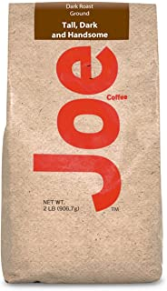 Joe Knows Coffee Tall and Handsome Dark Roast Ground Coffee, 2 Pound
