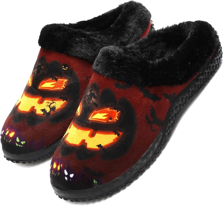 Zapatillas de Invierno Mujer Hombre Pantuflas de algodón con Memoria Zapatillas de Estar Al Aire Libre Forro cálido Pantuflas Mocasín Estilo