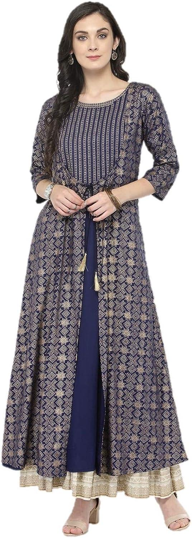 Indian 予約販売品 Kurtis for Women Designer Viscose Rayon 特価キャンペーン Anarkali A-Line K