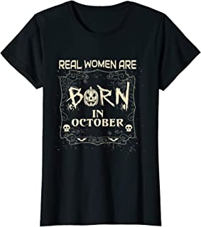 Womens October Halloween Birthday Present Women Outfit Idea T-Shirt