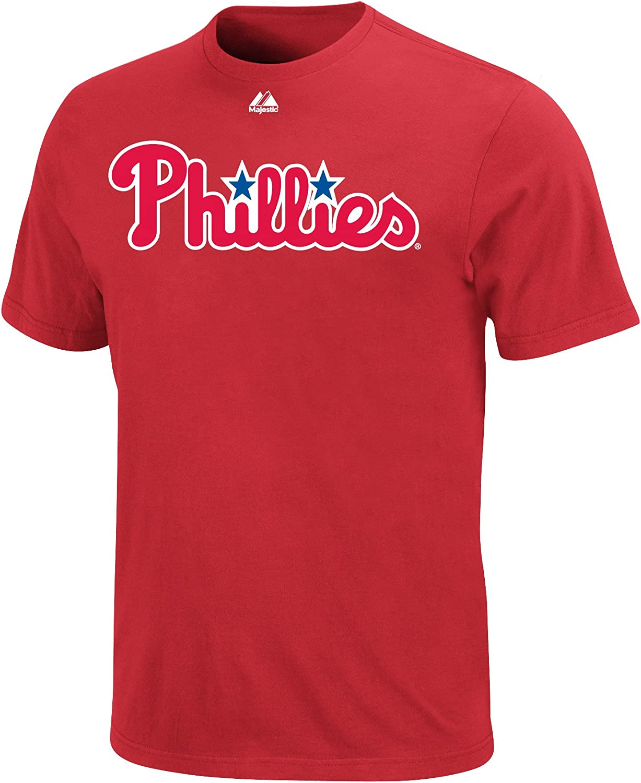 Majestic List price Philadelphia Phillies T-Shirt Wordmark Rapid rise Red