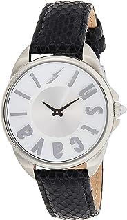 Just Cavalli Logo Women's JC1L008L0015 Quartz Black Calfskin Leather Strap Watch