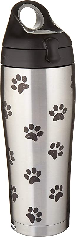 Tervis 1298871 Rescue Favorite Breed Stainless Steel Insulated Tumbler With Black With Gray Lid 24oz Water Bottle Silver