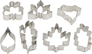 Mrs. Anderson's Baking Cookie and Fondant Cutters, Mini Leaf Shapes, 7-Piece Set with Storage Tin