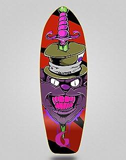 Glutier Surfskate Skate Skateboard Deck Gr Cat Red...