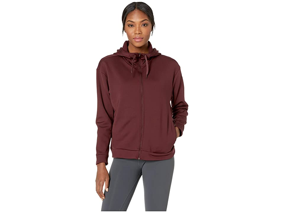 Nike Therma All Time Full Zip Hoodie (Burgundy Crush/White) Women