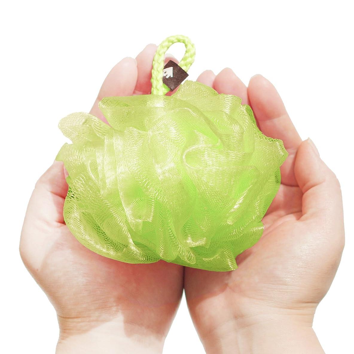 士気くしゃみ形状オカ 泡立てネット グリーン Sサイズ PLYS(プリス)シルキーウォッシュ