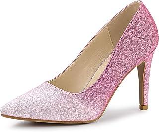Allegra K Women's Party Glitter Stiletto High Heels Pumps