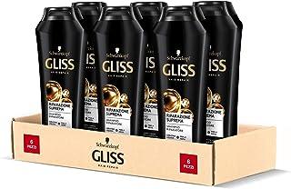 Schwarzkopf Gliss Shampoo Riparazione Suprema, Shampoo Riparatore, Riparazione Intensa, per Capelli Danneggiati, con Kerat...