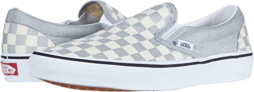 (Checkerboard) Silver/True White