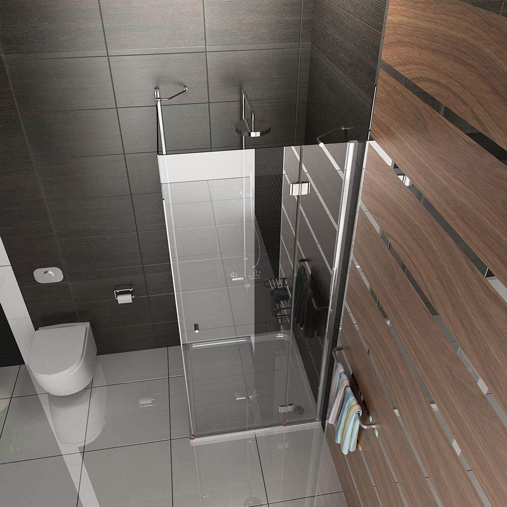 Esquina de ducha Mampara de ducha 90 x 80 x 185 ESG cabinas de ducha con cristal los arañazos Altura 185 cm: Amazon.es: Bricolaje y herramientas