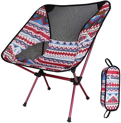 XAJGW Camping Chair Ultraleichter Gartenstuhl Klappbarer Fischenstuhl - Schwere Kapazit 150kg, Kompakt, Tragbarer Stuhl im Freien mit Tragetasche für Outdoor-Aktivit n, Camping, BBQ, Strand, Backp