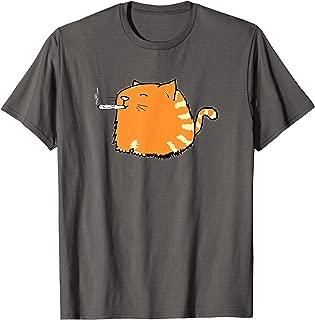 Cat Smoking Joint Shirts Funny Ginger Cats Weed Pot Tshirts