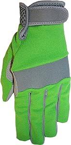Midwest Gloves & Gear 149F6GR-9-AZ-6 Ladies Max Performance Garden Glove, Size 9, Green
