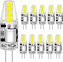 Agotd G4 Ledlampen, 2 W, vervangt 20 W halogeenlampen, koudwit, 6000 K, 160 lm, 12 V AC/DC ledlamp, 360 graden, geen flikk...