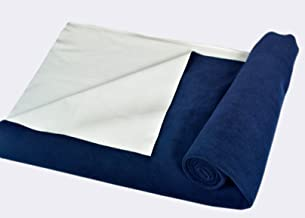 Trance Home Linen Baby Dry Sheets/100% Waterproof/Soft/Mattress Protector/Breathable/Underpad (Navy Blue, Medium)