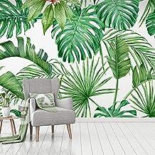 Mural 3D Sala De Estar Dormitorio Oficina Pasillo Decoración Murales Decoración De Pared Moderna.-Minimory De Hojas-Tela N...