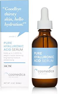 Hyaluronic Acid Serum for Skin-- 100% Pure-Highest Quality, Anti-Aging Serum-- Intense Hydration + Moisture, Non-greasy, Paraben-free-Best Hyaluronic Acid for Your Face (Pro Formula) 2 Fl. Oz