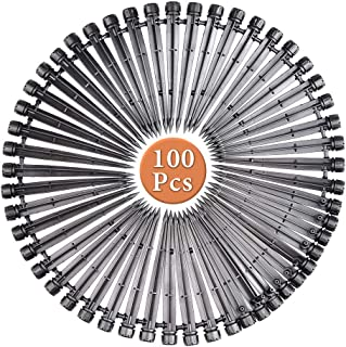 TIMESETL 100 Pcs Drip Emitters for 4mm/7mm Tube, Adjustable 360 Degree 8 Holes Micro Water Flow Drip Irrigation Kit for Wa...