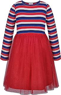 Girls Dress Christmas Party Glitter Tutu Skirt Red
