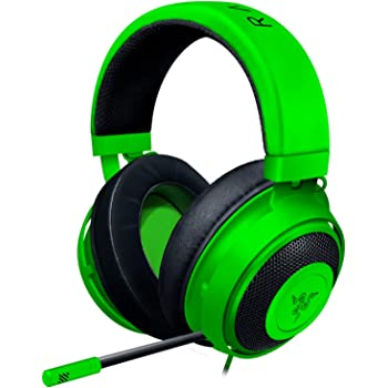 Razer Kraken Gaming Headset: Lightweight Aluminum Frame - Retractable Noise Isolating Microphone - For PC, PS4, PS5, Switch, Xbox One, Xbox Series X & S, Mobile - 3.5 mm Audio Jack – Green