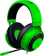Razer Kraken Gaming Headset: Lightweight Aluminum Frame - Retractable Noise Isolating Microphone - For PC, PS4, Nintendo Switch - 3.5 mm Headphone Jack - Green
