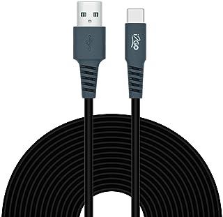 Cabo USB-C I2GO 3m 2,4A PVC Flexível Preto Com Cinza - I2GO Plus