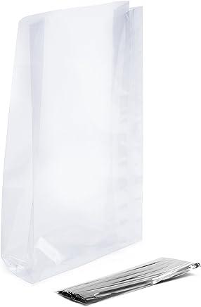 Faburo 400pcs 10 13cm Sachet Plastique Tansparent Adh/ésif OPP Sachet Pochette Sac d/'Emballage Cellophane Biscuit Chocolats Sandwichs Perles Bijoux Cadeau