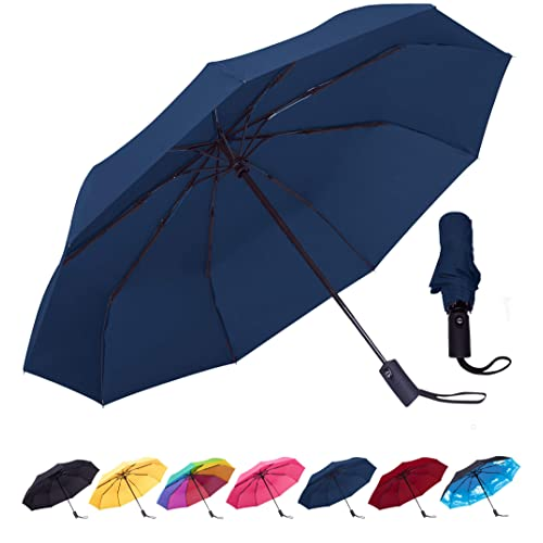 8504b533fffcc Rain-Mate Compact Travel Umbrella - Windproof, Reinforced Canopy, Ergonomic  Handle, Auto