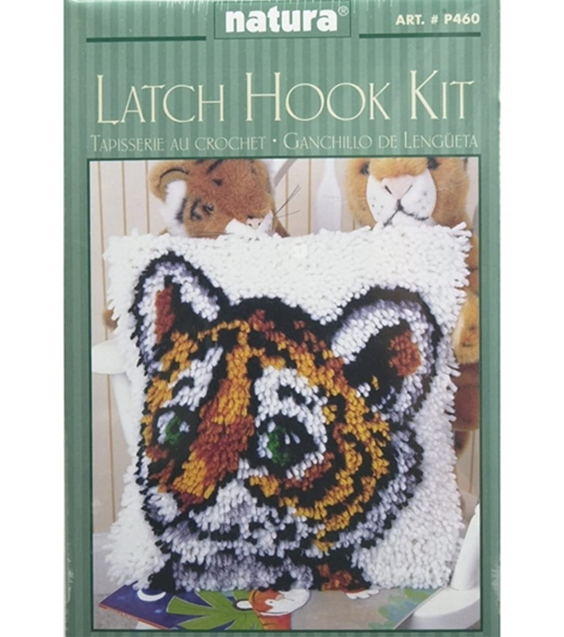 Caron Natura Latch-Hook Kit, Tiger Cub, 12