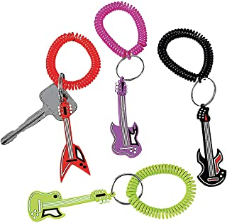 Fun Express - Rock Star Rubber Key Chains - Apparel Accessories - Key Chains - Novelty Key Chains - 12 Pieces