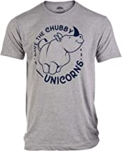 Best Save The Chubby Unicorns   Funny Phrase Rhino Saying Sarcastic Dad Joke T-Shirt for Men Review