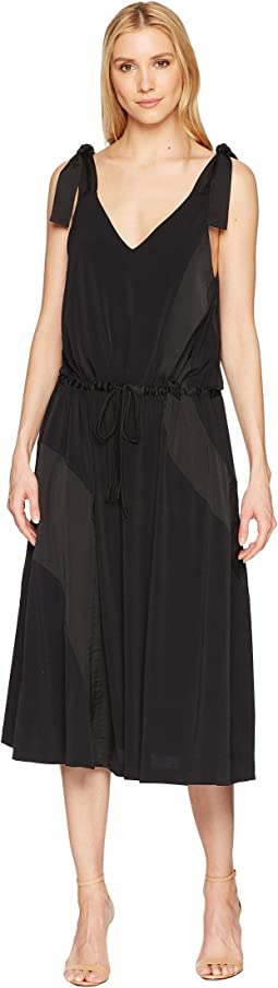 Kenneth Cole New York V-Neck Shoulder Tie Tank Dress